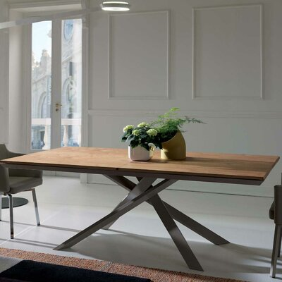 Quadron Extendable Dining Table Color: Antic Oak