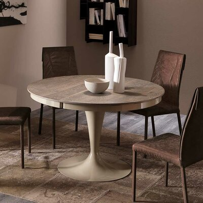 Elise Extendable Dining Table Finish: Gray