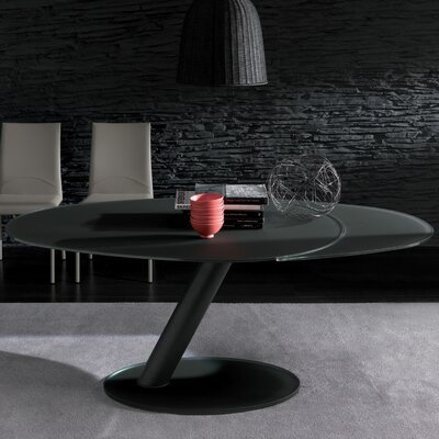 Onda Oval Extendable Dining Table Base Finish: Graphite, Top Finish: Graphite