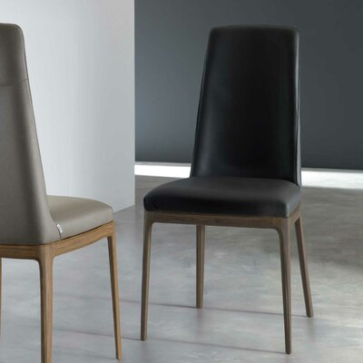 Post Genuine Leather Upholstered Dining Chair Upholstery: Mastice