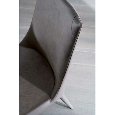 Apollo Side Chair Upholstery: Black
