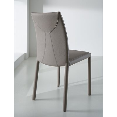 Chris Side Chair Upholstery: Light Gray/Brown