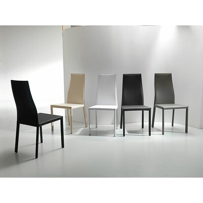 Wanda Side Chair Upholstery: Black