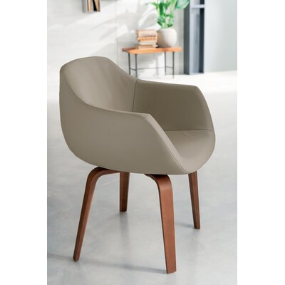 Estro Swivel Armchair Upholstery: Light Gray