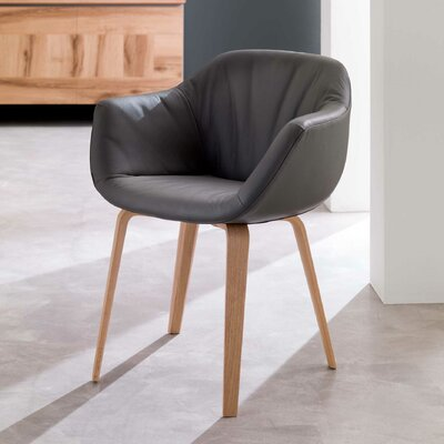 Estro Swivel Armchair Upholstery: Dark Gray