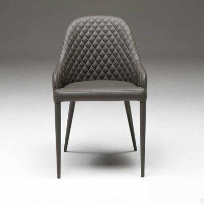 Bora Genuine Leather Upholstered Dining Chair Upholstery: Dark Gray