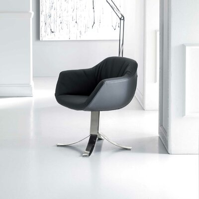 Nelly Swivel Armchair Upholstery: Dark Beige