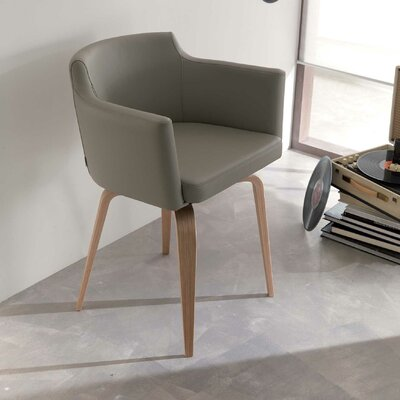 Robert Swivel Armchair Upholstery: Light Gray