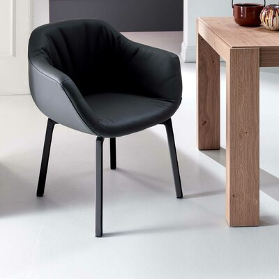 Nolan Arm Chair Upholstery: Black