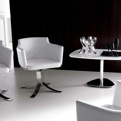 Agnese Armchair Upholstery: White
