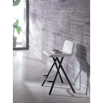 Cherry 25.2 Bar Stool  Upholstery: White