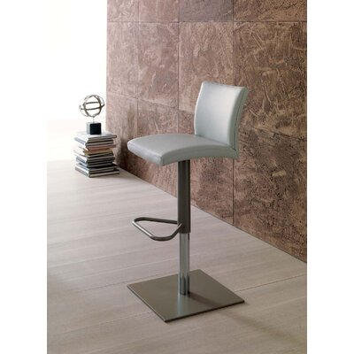 Sport Adjustable Height Swivel Bar Stool Upholstery: White