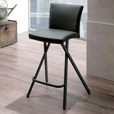Ethan 25.2 Bar Stool  Upholstery: White