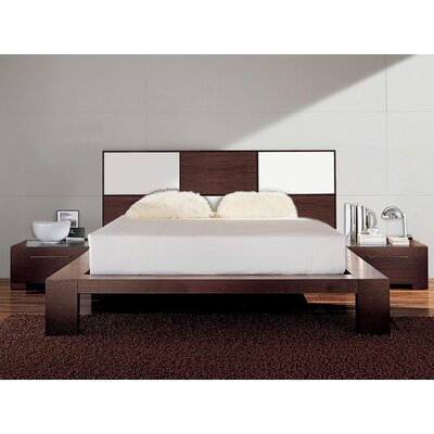 Soho Platform Bed Size: King, Color: Silver Glossy Lacquered