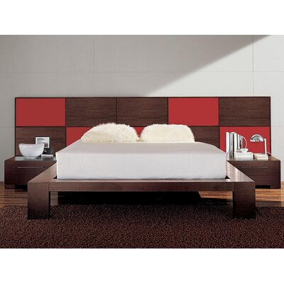 Soho Platform Bed Size: Queen, Color: Cherry Wood