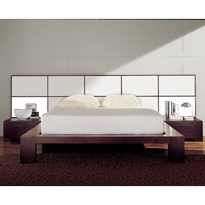 Soho Platform Bed Size: King, Finish: Ivory Glossy Lacquered