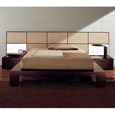 Soho Platform Bed Size: Queen, Color: Bleached Oak / Natural Wood