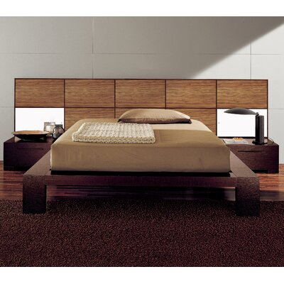Soho Platform Bed Size: King, Color: Zebrano Wood