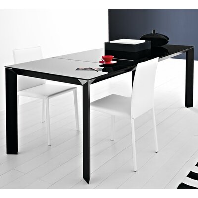 Metropolis 70.9 Extendable Dining Table Finish: Black, Size: 29.9 H x 35.4 W x 55.1 - 78.7 D