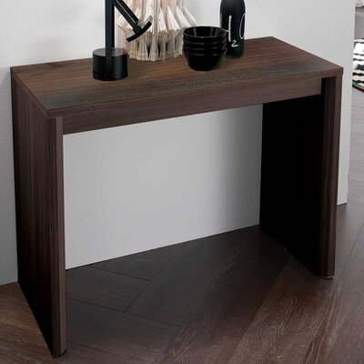 Masha Metal Mechanism Transformable Console Table Finish: Oakwood