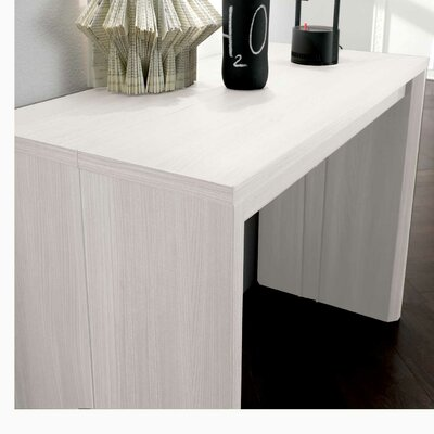 Masha Metal Mechanism Transformable Console Table Finish: White