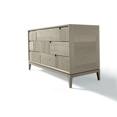 Martino 3 Drawer Standard Dresser Color: Gray