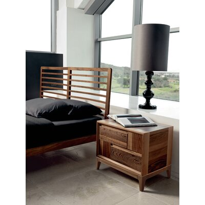 Martino 2 Drawer Nightstand Color: Brown