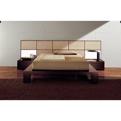 Soho Platform Bed Size: King, Finish: Bleached Oak / Natural Wood