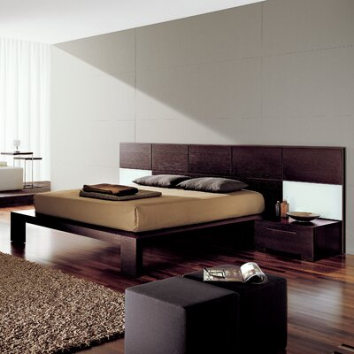 Soho Platform Bed Size: California King, Color: Wenge Wood