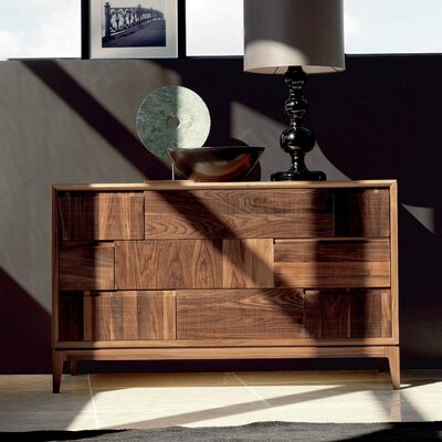 Martino 3 Drawer Standard Dresser Color: Brown