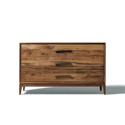 Matteo 3 Drawer Standard Dresser Finish: Brown