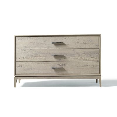 Matteo 3 Drawer Standard Dresser Color: Gray