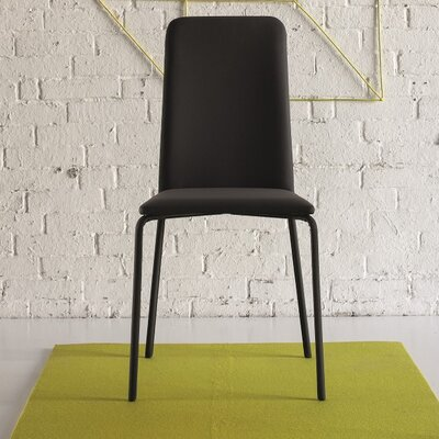 Gigi Upholstered Dining Chair Color: Soft Black