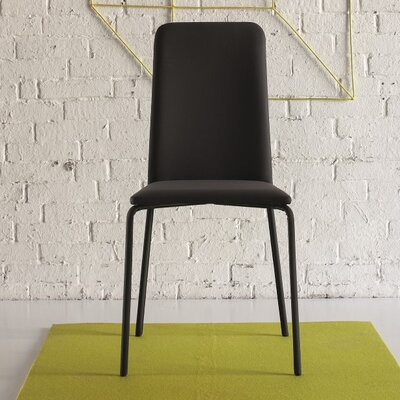 Gigi Upholstered Dining Chair Color: Black