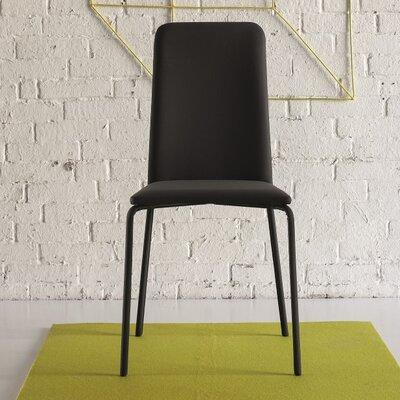 Gigi Upholstered Dining Chair Color: Black
