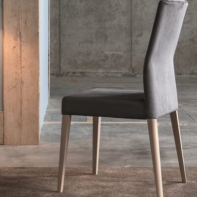 Soho Upholstered Dining Chair Color: Dark Grey