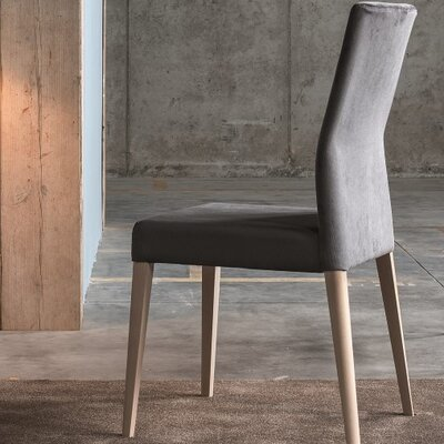 Soho Genuine Leather Upholstered Dining Chair Color: Dark Grey