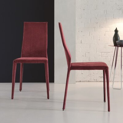 Star Upholstered Dining Chair (Set of 2) Color: Bordeaux