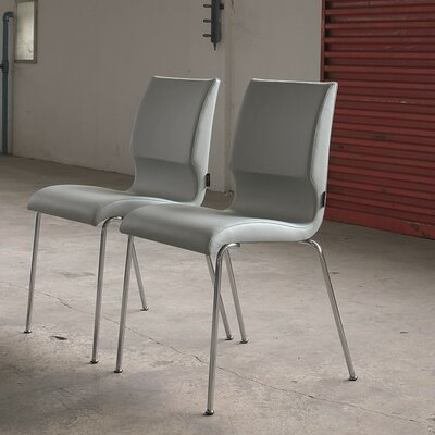 Jolie Upholstered Dining Chair Color: Lino Dove Grey