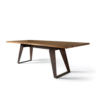 Benjamin Fixed Oblique Metal Legs Dining Table Size: 30 H x  114 W x  39 D