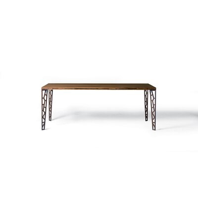 Baltimore Fixed Dining Table Finish: Rusted Perforated Metal Legs