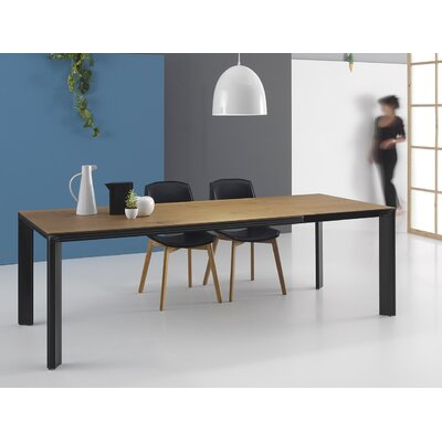 Temper Extendable Dining Table Size: 29.9 H x 86.6 L x 35.4 W