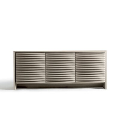 Alma Sideboard Color: Gray Walnut Finish - Curved Doors