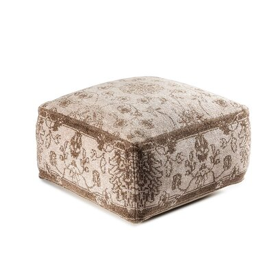 Sunshine Cube Ottoman Upholstery: Brown/Gray