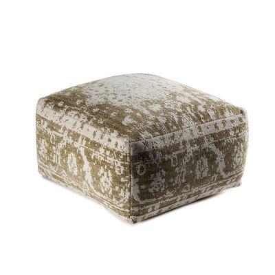 Sunshine Cube Ottoman Upholstery: Green/White