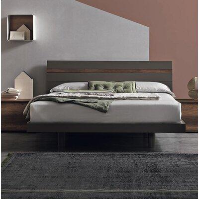 Joker Platform Bed Size: Queen, Color: Matt Grey Lacquered