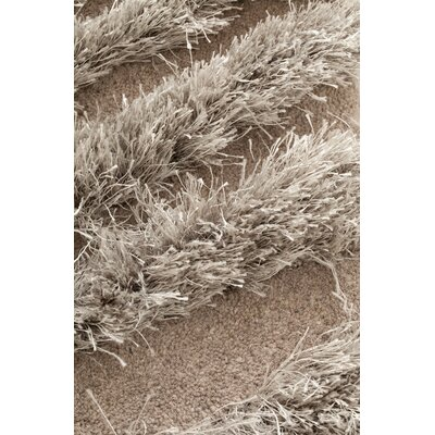 Wool Hand-Tufted Beige Area Rug Rug Size: 53 x 8, Color: Grey