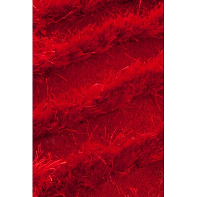 Wool Hand-Tufted Beige Area Rug Rug Size: 66 x 10, Color: Red