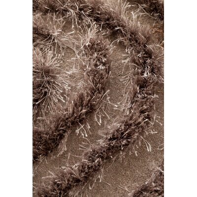 Wool Hand-Tufted Beige Area Rug Rug Size: 53 x 8, Color: Taupe