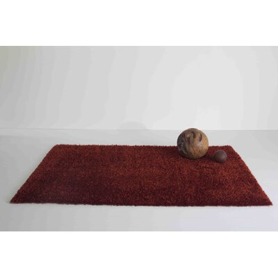 Domus Red Area Rug Rug Size: 53 x 8, Color: Gold